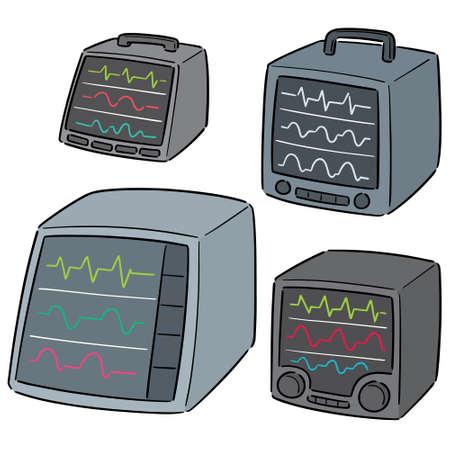 vector set van monitor voor vitale functies