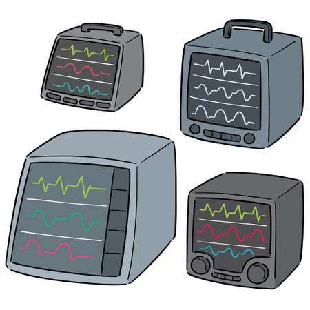 vector set of vital sign monitor