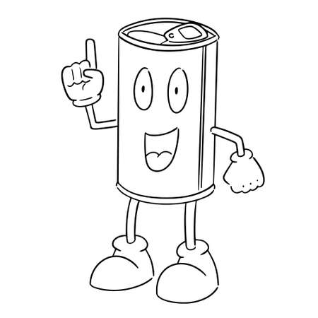 vector of can cartoon