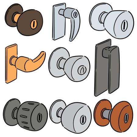 vector set of door knob Vector Illustratie