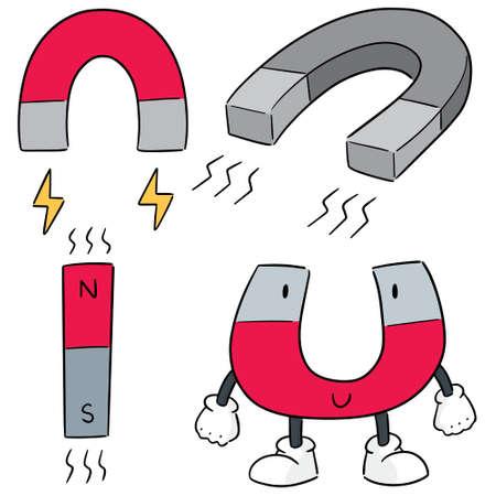 set vettoriale di magnete