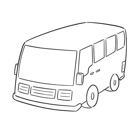 vector of minivan