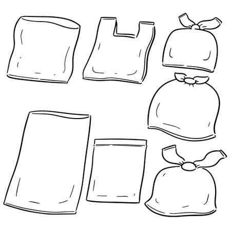 set vettoriale di sacchetto di plastica