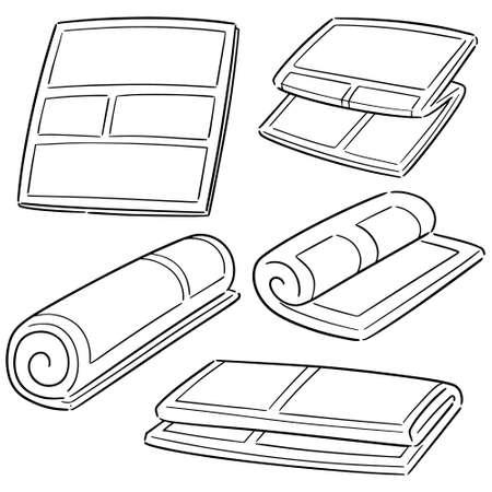 vector, conjunto, de, periódico Ilustración de vector