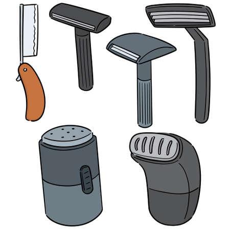 vector set of razor Vectores