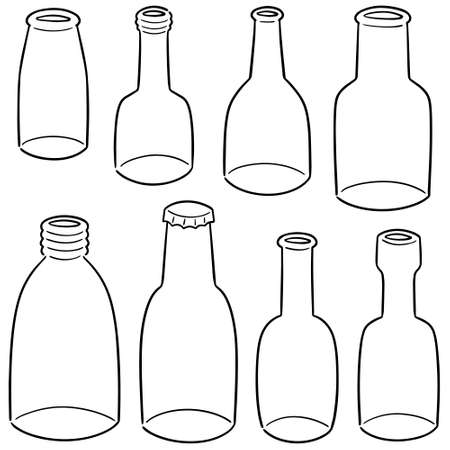 vector set of bottle 矢量图像