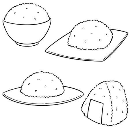 vector set of rice