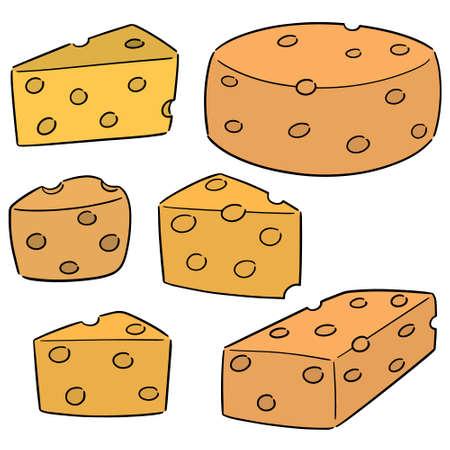 vector set of cheese Ilustração