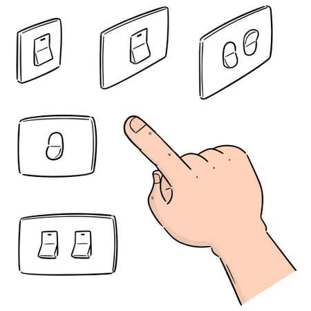 vector, conjunto, de, interruptor eléctrico Ilustración de vector