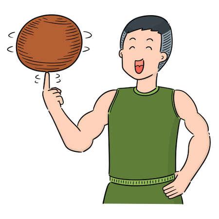 vector of basketball player
