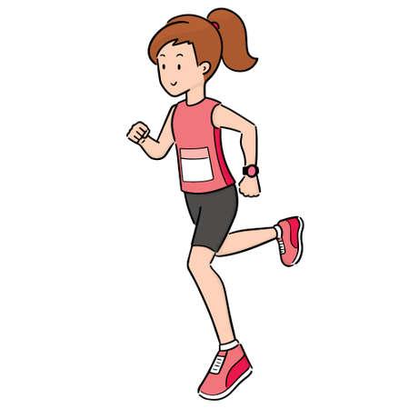 vector of woman running 向量圖像