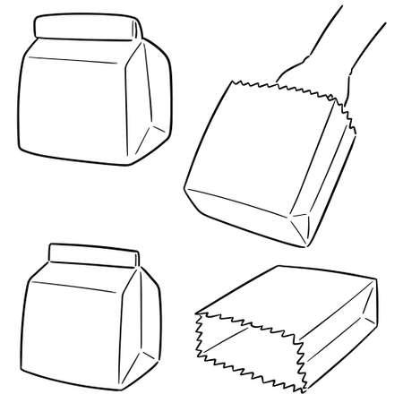 vector set of paper bag Vectores