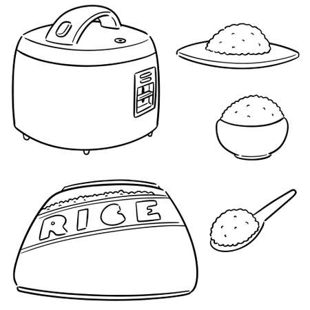 vector set of rice