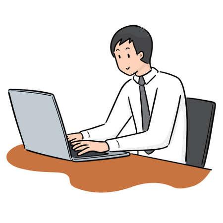 vector of office worker