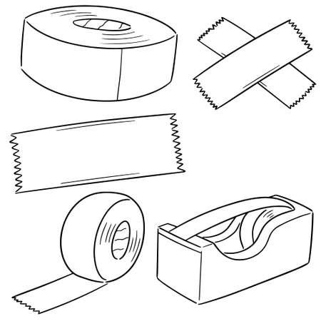 vector set of adhesive tape Illustration