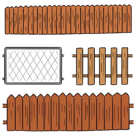 vector set of fence 向量圖像