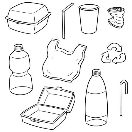 vector set of recycle item Illustration