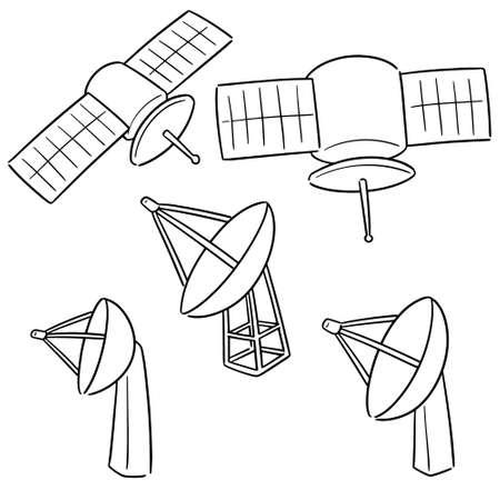 vector set of satellite