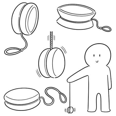 vector set of yoyo