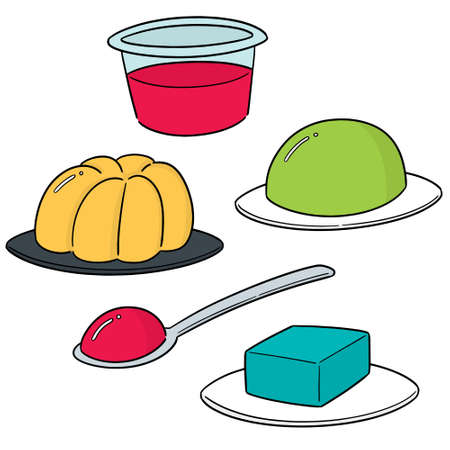 vector set of jelly