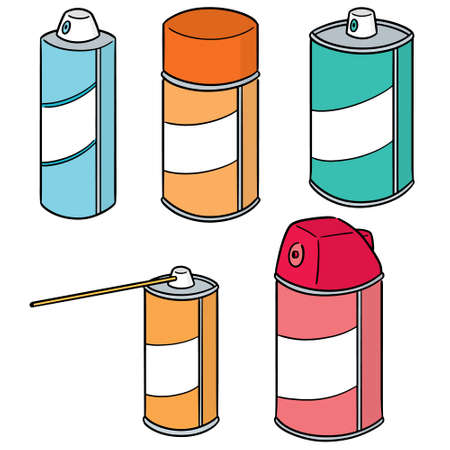 vector set of spray can