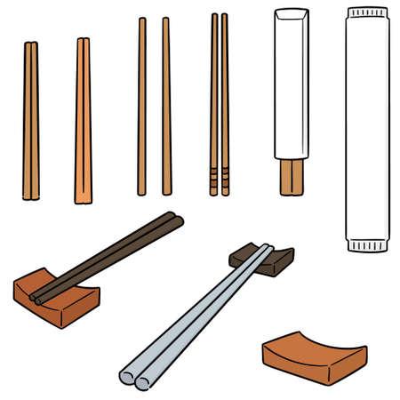 vector set of chopsticks