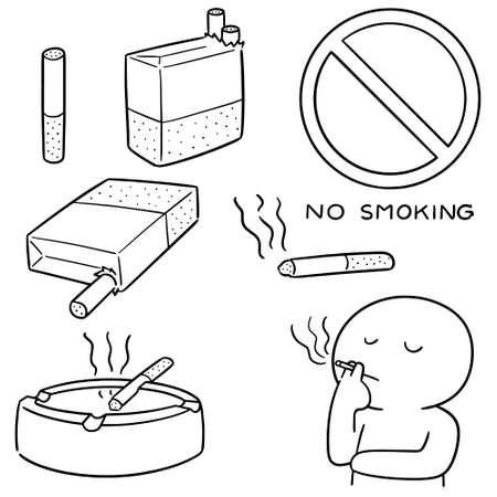 vector set of cigarettes Vecteurs