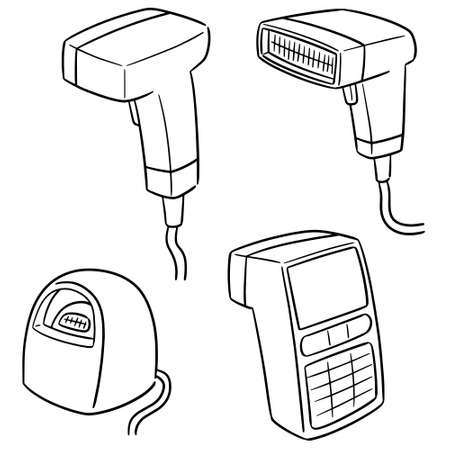 vector set of barcode reader Illustration