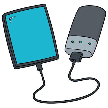vector of smartphone charging via power bank Stockfoto - 111259264