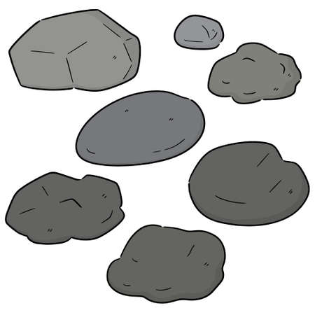 vector set of stone Ilustrace