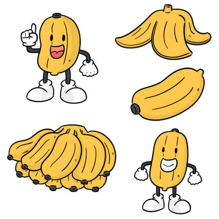 vector set of banana