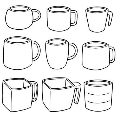 vector set of beverage cup Illustration