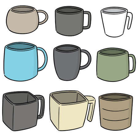 vector set of beverage cup 向量圖像