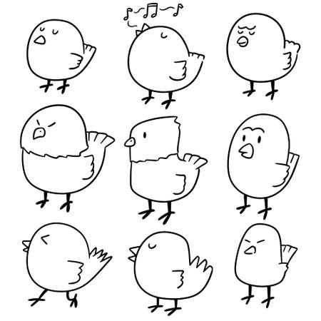 vector set of bird Illustration