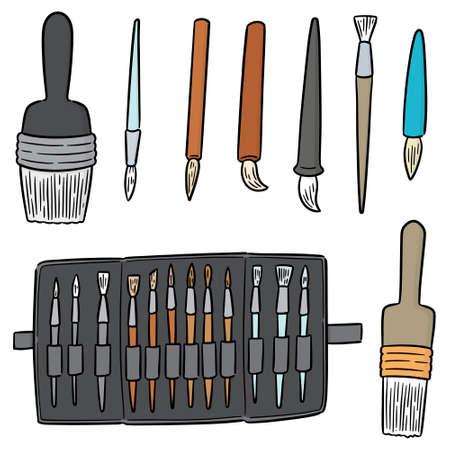 vector set of brush Illustration