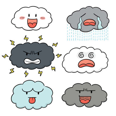 vector set of cloud cartoon