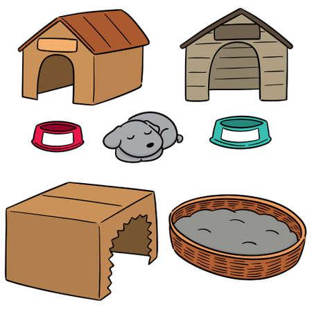 vector set of dog house Illustration
