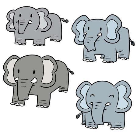 vector set of elephant Illustration