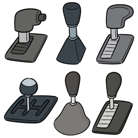 vector set of car transmission