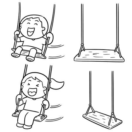 vector set of kid swing Stock Vector - 127573264