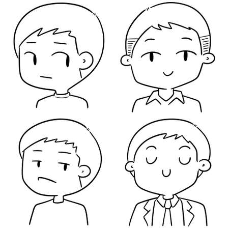 vector set of men