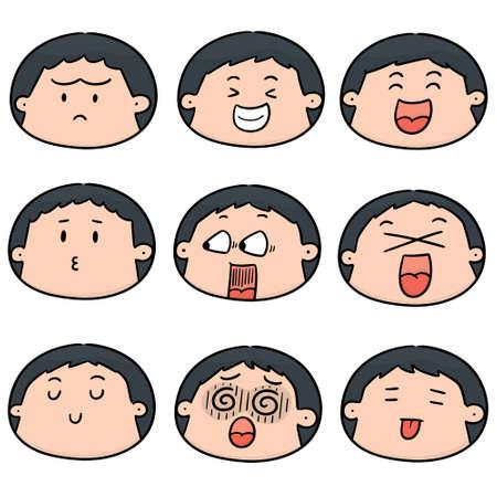 vector set of cartoon face 向量圖像