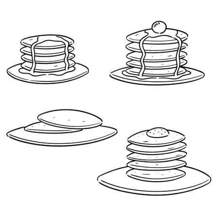 vector set of pancake 向量圖像