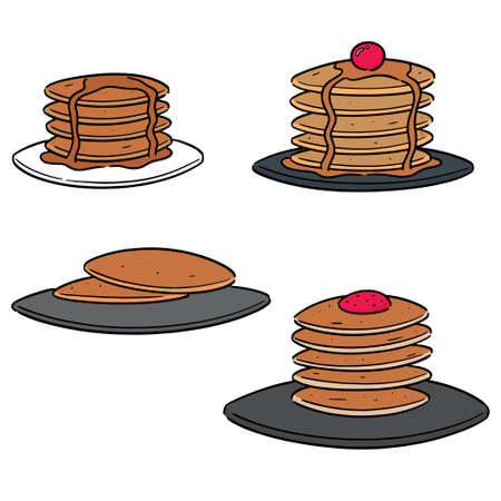 vector set of pancake Stock Vector - 127573277