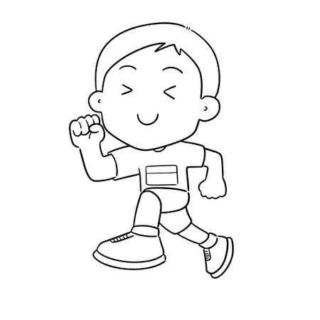 vector of man running