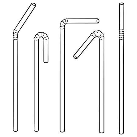 vector set of straw