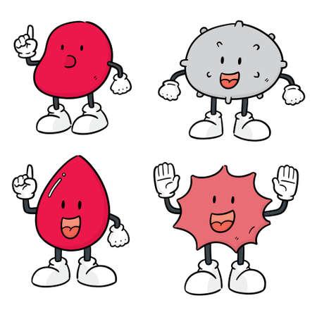 vector set of blood cells Ilustração