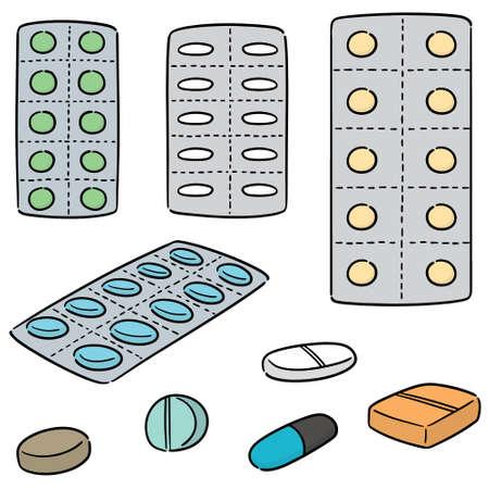 vector set of medicine Ilustrace