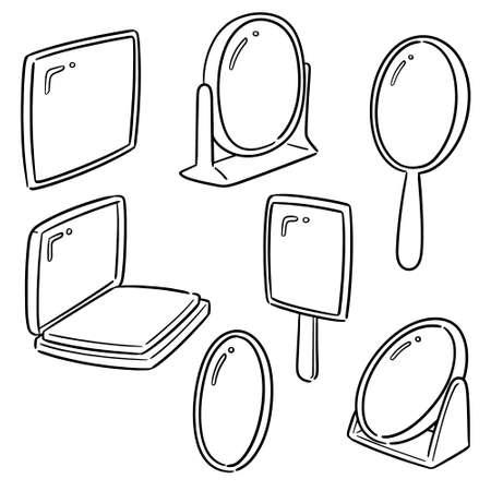 vector set of mirror Illustration
