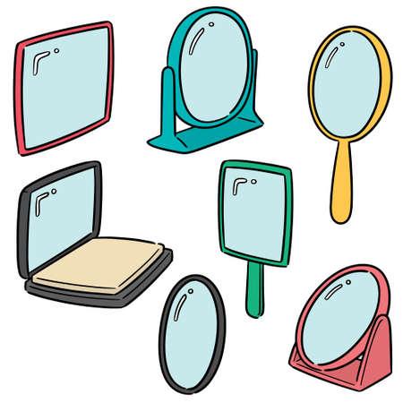 vector set of mirror Vetores